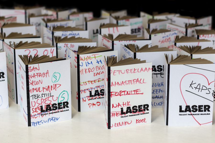 Märkmik taaskasutus Telesaatele Laser